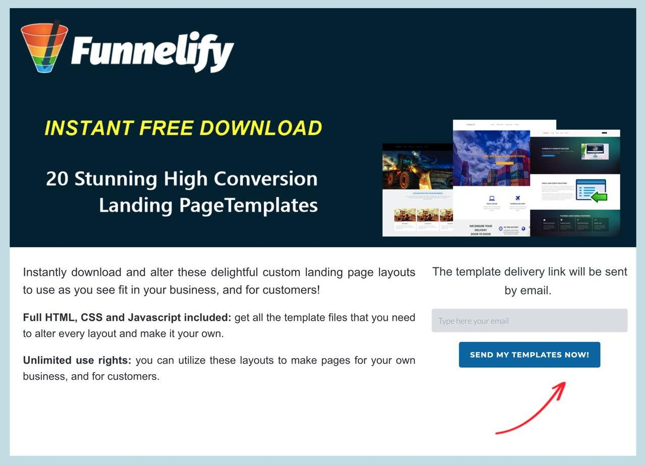Funnelify Free 20 Templates